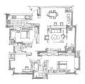 130㎡舒适北欧3室2厅 营造清新舒缓的生活格调