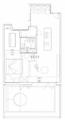 55㎡一室床边放浴缸、厨房起居室全开放 超有秩序