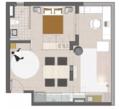 45㎡一室户 电视墙这样设计空间大一倍
