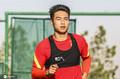 高清:国足训练杨帆驰援到队 艾克森一丝不苟