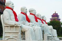 华西村耶稣佛祖并立 书记每日演讲分毫不差(图)