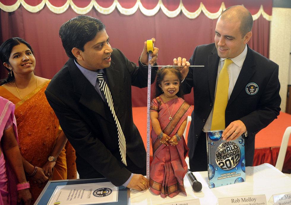 高清:印度18岁姑娘成为世界最矮女人 科学探