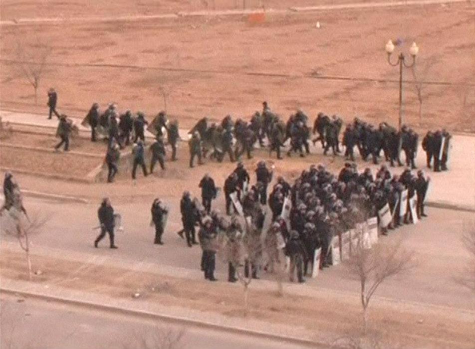哈萨克斯坦石油工人骚乱 多人死伤