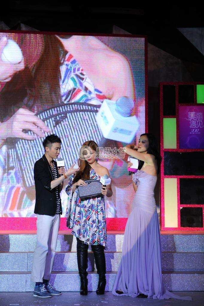 达人秀美妆包,图片从左至右:主持人李艾、宝贝靓靓、Yukiko、尼图片