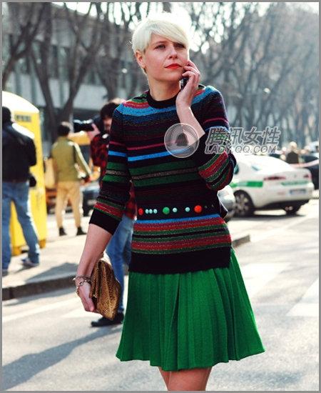 2012服装搭配闻瑞服装推荐红色绿色迎春穿衣显洋气 - 闻瑞服装培训 - 闻瑞服装运营培训谷