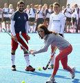 英国王妃访奥运团队