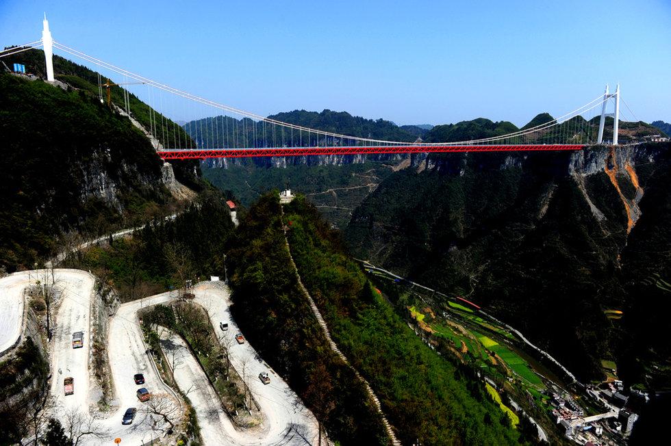 湖南湘西矮寨特大悬索桥通车 创4项世界第一 - 南岳樵夫 - 南岳樵夫的博客