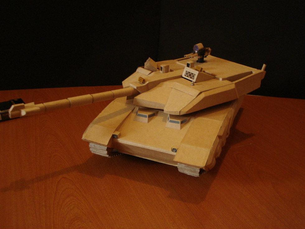 大神一般的存在 手工帝用纸盒做成坦克