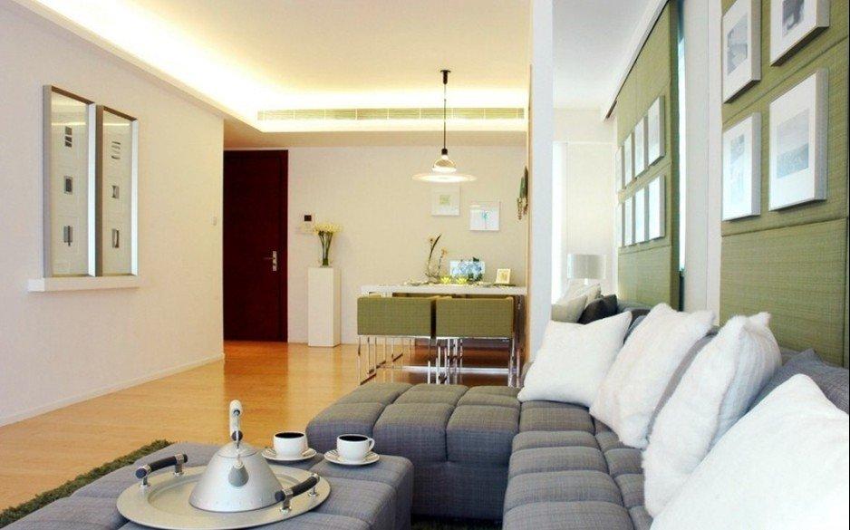 二居室-93㎡-客厅装修效果图; 小户型装修效果图大全