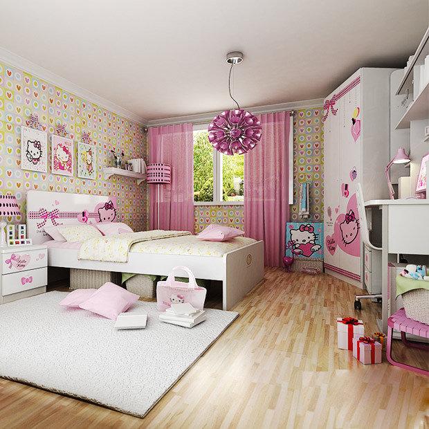 迪士尼儿童家具套房公主嘉年华女生卧室套装组合