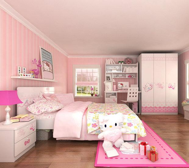 hellokitty儿童家具套装组合女生卧室套房kt爱图片