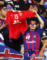 日本球迷向孔卡致意