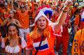 荷兰球迷庆祝大赛到来