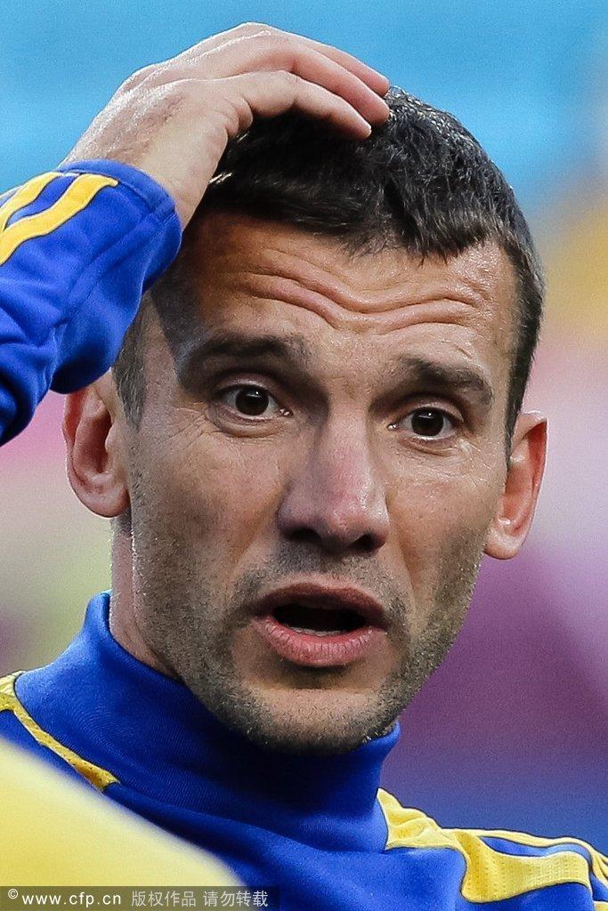 乌克兰全心备战瑞典 舍甫琴科摩拳擦掌