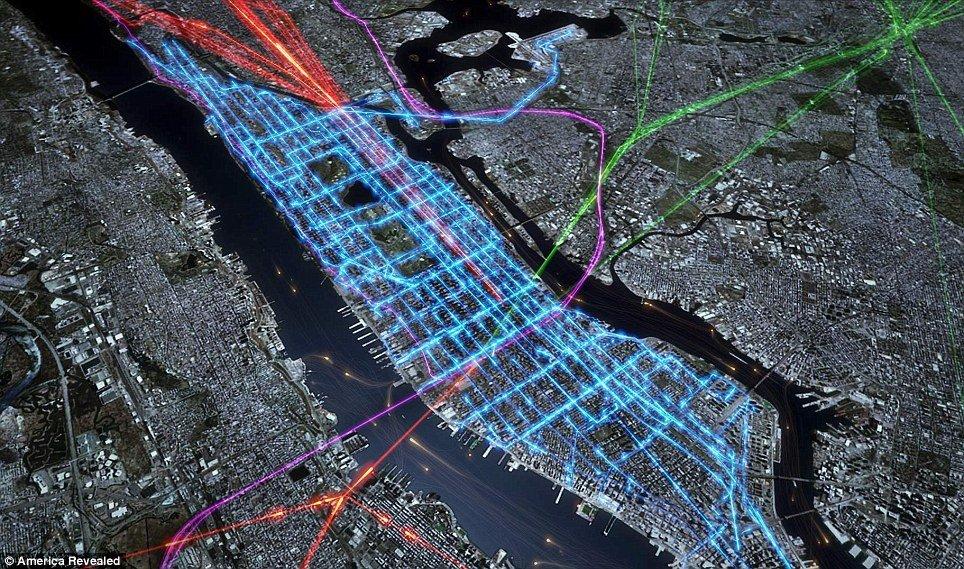 GPS艺术:呈现美国美丽的交通运输网络路线 - 科学探索 - 科学探索