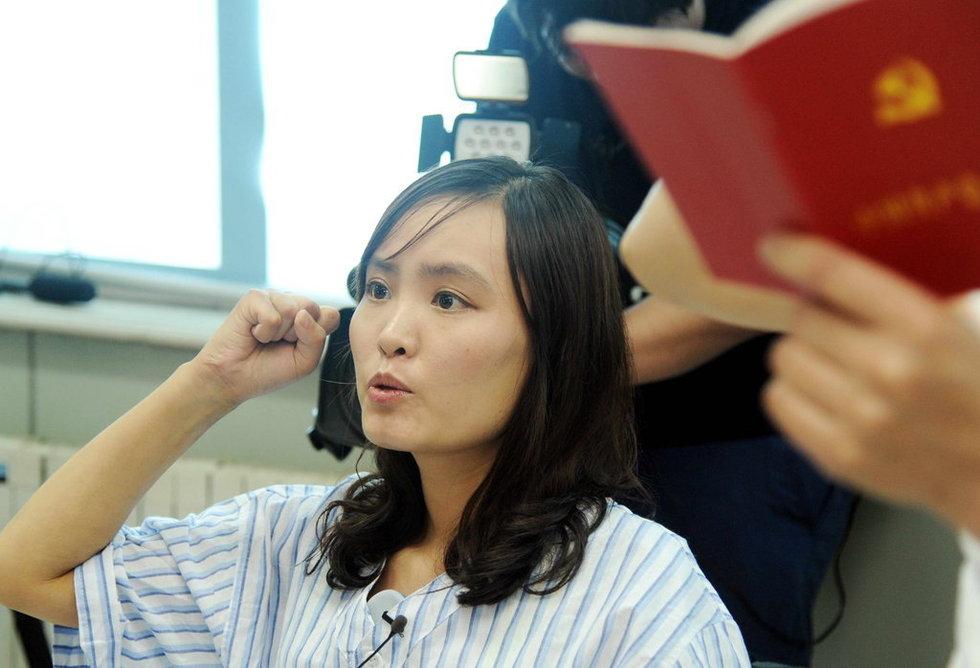 转贴最美女教师张丽莉加入中国党 鄱阳