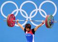 高清:举重女子53公斤级中华台北许淑净摘银