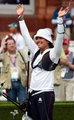 高清:射箭女单1/8决赛墨西哥选手胜出