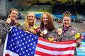 女混合泳接力美国夺冠