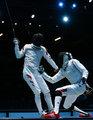 高清:男子花剑团体中国获第7名