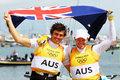 高清:帆船49人级-男子快速艇 澳大利亚夺金