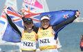 高清:帆船帆板470级女双人艇新西兰组合夺冠