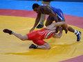 高清:摔跤男子自由式74KG 美国选手摘金