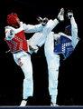 高清:跆拳道+80KG级 中国刘哮波晋级八强