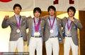 高清:内村航平领衔日体操队召开新闻发布会