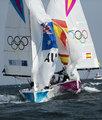 高清:帆船伊利奥特6M级女子对抗 西班牙夺金
