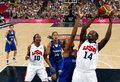 高清:奥运女篮决赛 美国86-50大胜法国夺冠