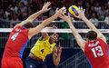 高清:男排金牌战 俄罗斯惊天逆转巴西夺冠
