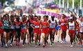 高清:男子马拉松 中国健儿奋力拼搏