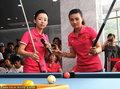 高清:9球中国赛宣传活动 潘晓婷付小芳领衔