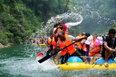 芙蓉镇景点圈摄影大展摄影作品 金芙蓉收藏作品 国际友人激情漂流猛洞河(组2) 王静