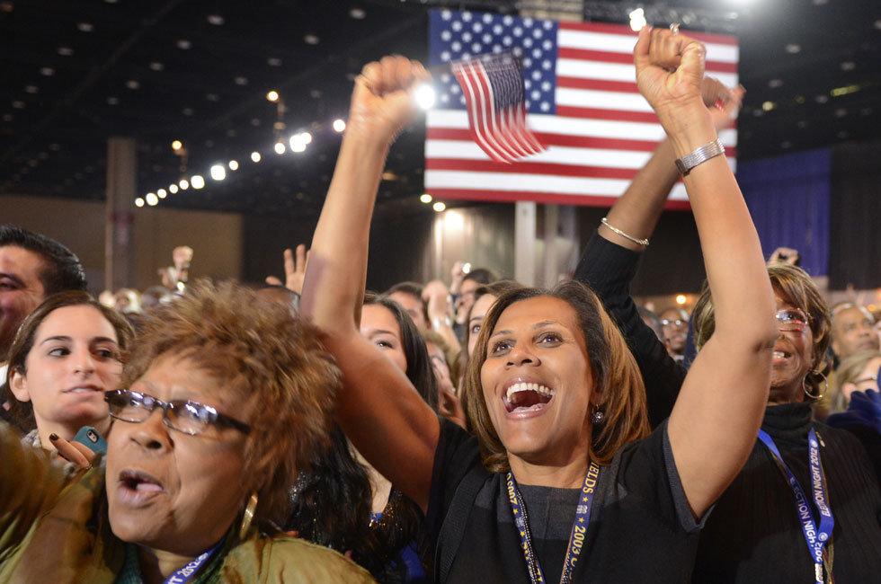 奥巴马连任总统成功,携家人亮相【高清图片】 - 飞翔龙卷风 - 网闻·博采·家国·人生