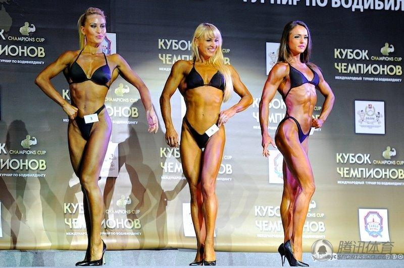 高清:莫斯科健美大赛 男女筋肉人秀魔鬼身材