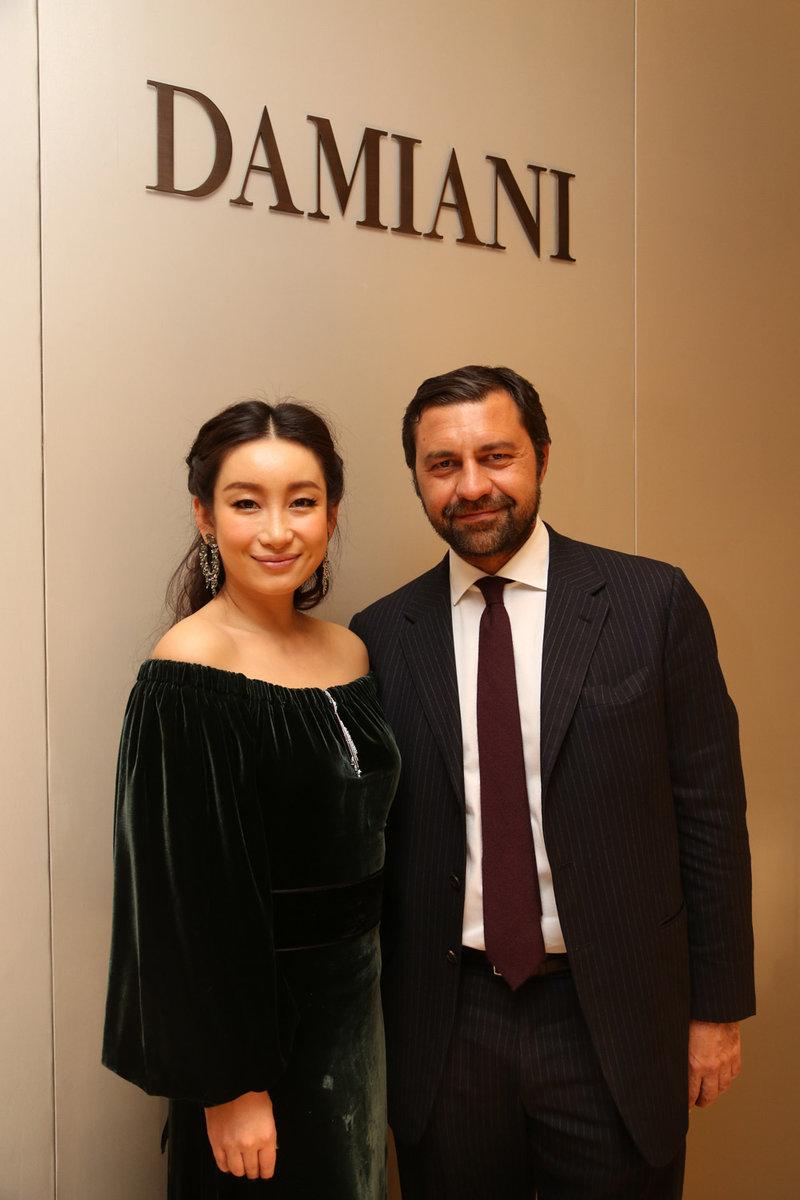 秦海璐小姐与DAMIANI集团副总裁GIORGIO DAMIANI先生合影