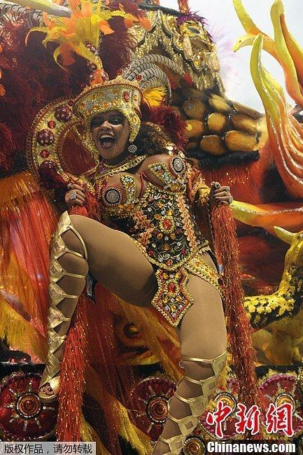 当地时间2月8日,巴西里约狂欢节正式拉开帷幕.此次狂欢节...