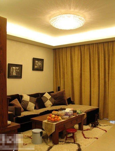 新中式也时尚 12万装修80平米两室两厅实木家 高清图片