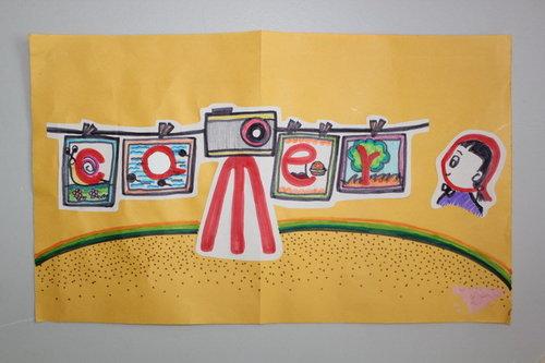 托马斯创意单词画优秀作品欣赏图片