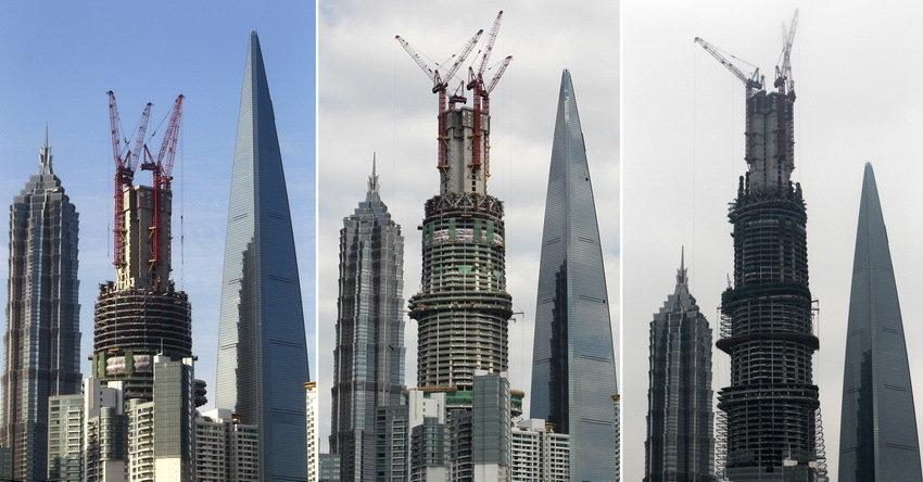 """""""上海中心""""大厦突破100层 高度攀升至470米 - 思思 - 思思的博客"""
