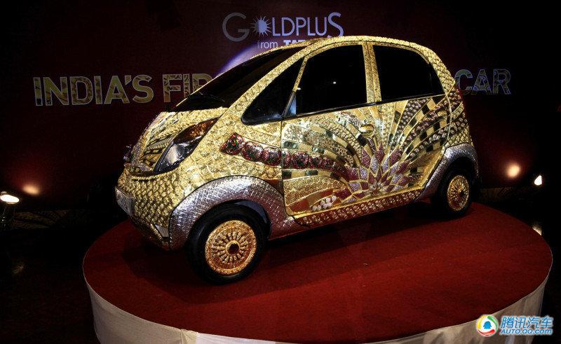 印度塔塔Nano镀金汽车 亮瞎你的双眼高清图片