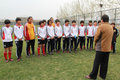 组图:魏吉祥看望U14女足 发表讲话勉励队员