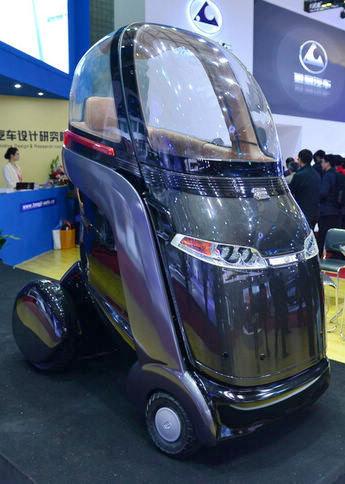 同济设计--颠覆传统的超Q单人汽车