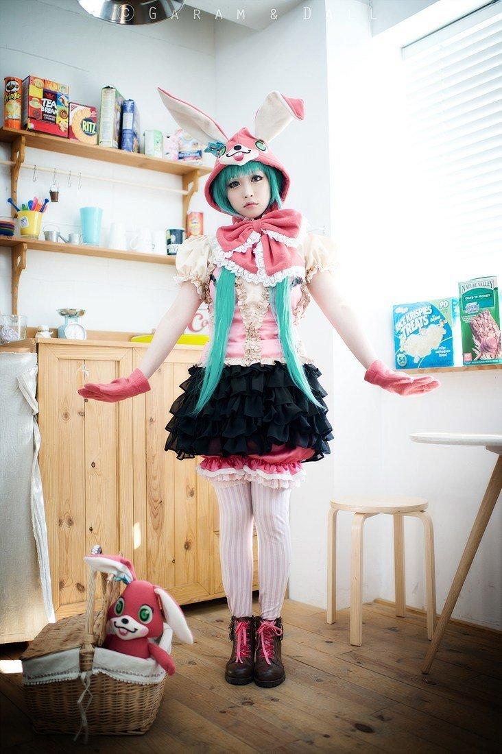 VOL.螺旋猫TOMIA新作:兔耳初音COS图 - 樱田优姬 - 二次元会馆