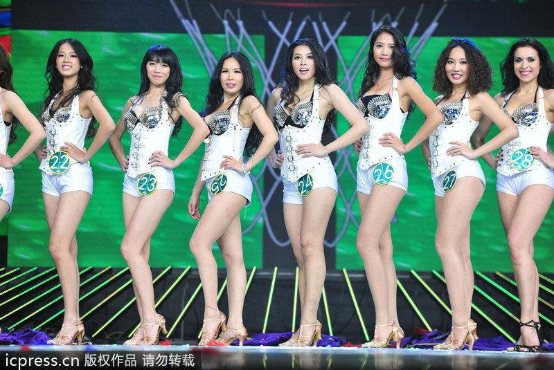 高清:拉拉队美女选拔 钟丽缇火辣身材秀热舞 钟