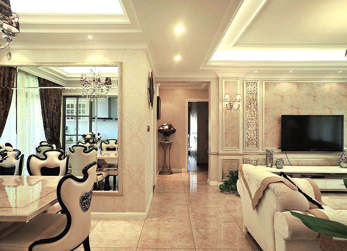 [转载]欧式古典家居装修图:20万打造105平欧式古典奢华家