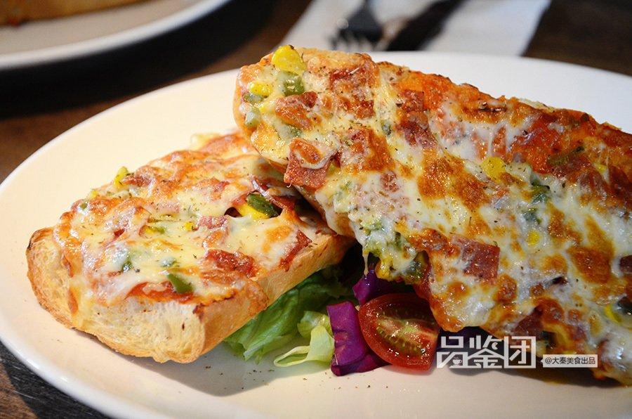 法式面包披萨听着名字就感觉很上流,面包跟披萨结合后会有怎样的