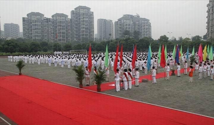 """我校举行""""中国梦我的梦""""成人礼仪式; 成都七中实验学校成人礼 把"""